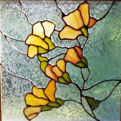 Stained Glass Magnolia Blossoms Window by windflower on Etsy