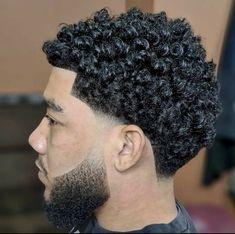 Fade Haircut Styles, Hair And Beard Styles, Curly Hair Styles, Taper Fade Curly Hair, Taper Fade Haircut, Mens Braids Hairstyles, Twist Hairstyles, Tape Up Haircut, Men Haircut Curly Hair
