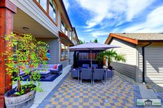 Backyard Patio of 1225 Burkemont Place, Coquitlam, BC