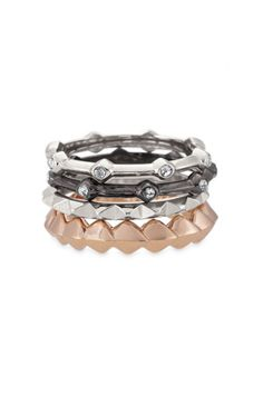 Discover the four equally unique mixed metal Katelyn mixed band ring set from Stella & Dot. Find fashion rings, cocktail rings, vintage rings, bands & more.