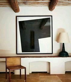 A Piece By Richard Nonas Hangs In The Entry Hall Of Fabrègues, The  Provençal Estate Of French Designer Featured In