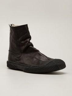 VIRIDI-ANNE - Steer Leather Back-Zip Boot - VI-2303-09 BLACK - H. Lorenzo