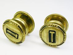 Art Deco Cufflinks KUM A PART Baer & Wilde round by unclesteampunk, $39.95
