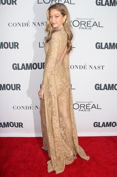 Best Dressed Celebrities: See Their Dresses From the Back - Gigi Hadid in Zuhair Murad Couture