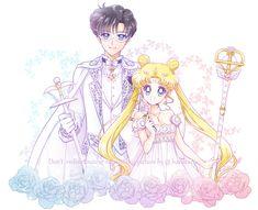 Sailor Moon Sailor Stars, Neo Queen Serenity, Princess Serenity, Sailor Moon Kristall, Sailor Moon Aesthetic, Moon Princess, Famous Artwork, Sailor Scouts, Manga Pictures