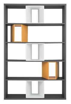 A design library with open shutters – 16 design libraries at the top – CôtéMaison.fr by mbouchetard Office Furniture, Furniture Design, Bookshelves, Bookcase, Bibliotheque Design, Dressing Room Design, Home Gym Design, Shelving Systems, Sideboard Cabinet