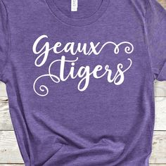 Excited to share the latest addition to my shop: Geaux Tigers Design SVG Digital cut file Vinyl Designs, Cute Designs, Shirt Designs, Lsu Tigers Football, Tiger Design, Vinyl Shirts, Cutting Files, Saints, My Etsy Shop