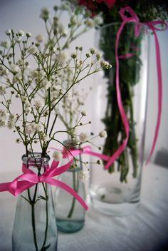 gipsówka, bukiet, kwiaty