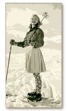 I've been obsessng over retro snow pics lately (said while honking with laughter at the ski-skirt combo and the thought of the heavy duty un. Ski Vintage, Vintage Ski Posters, Vintage Winter, Vintage Travel, Best Skis, Ski Boots, Apres Ski, Ski Fashion, Snow Skiing