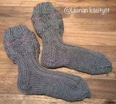 Leenan käsityöt: Pöllösukat ja ohje Socks, Sock, Stockings, Ankle Socks, Hosiery
