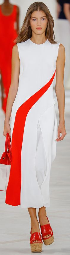 TD ❤️ Ralph Lauren, Spring 2016 Ready-To-Wear women fashion outfit clothing style apparel @roressclothes closet ideas