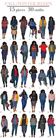 plus size capsule wardrobe fall- mycurvesandcurls