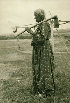 Scattered Corn (the daughter of Holding Eagle) - Mandan - circa 1915