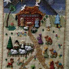 Christmas Nativity, Christmas Cross, Felt Christmas, Xmas Crafts, Christmas Projects, Jesus Birthday, Shell Art, Silent Night, Plastic Canvas Patterns