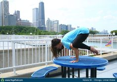 """Yoga Poses Around the World: """"Crow Pose in Chicago, USA, by Natalie W."""""""