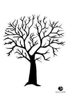 Diy fingerprint tree poster instant download small bastelideen pinterest basteln - Stammbaum basteln mit kindern ...