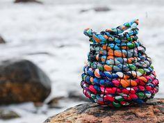 Plastic basket by Jane Nielsen