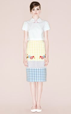 Cute Skirt- Shop Deo Knit Jacquard Skirt by Vivetta for Preorder on Moda Operandi