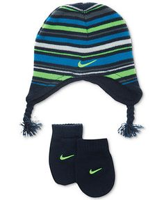 Nike Baby Set, Toddler Boys or Baby Boys Knit Cap and Mittens