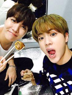 Hobi and Jin