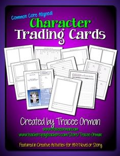 Character Trading Cards Common Core Activity