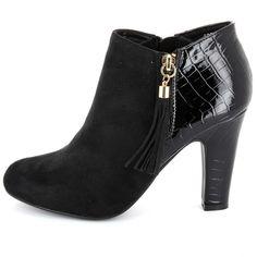 1021fbe98926f6 SALDI Kiabi – moda a piccoli prezzi per tutta la famiglia, online e in  negozio. Stivaletti con tacco effetto coccodrillo Donna ...
