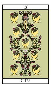 The nine of cups represents contentment and overall satisfaction with what has been achieved. We find ourselves surrounded by our fulfilled wishes. Enjoy this time in your life. Nine Of Cups, Online Tarot, Hero's Journey, Major Arcana, Card Reading, Archetypes, Tarot Cards, Contentment, Google Search