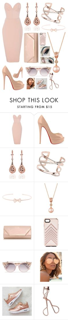 """""""What Makes You Beautiful"""" by pinkstars6 ❤ liked on Polyvore featuring Christian Siriano, Christian Louboutin, Dorothy Perkins, Ted Baker, LE VIAN, Rebecca Minkoff, Jimmy Choo, Quay, Charlotte Tilbury and chic"""