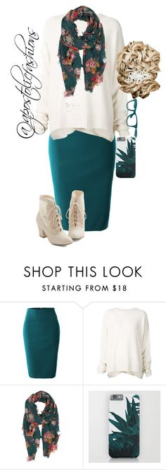 """Apostolic Fashions #901"" by apostolicfashions ❤ liked on Polyvore featuring LE3NO, URBAN ZEN, Pieces and Ray-Ban"