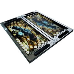 Premium Cuir véritable Roll-up Travel Backgammon Set et pleine d/'instruction