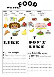 English teaching worksheets: Food
