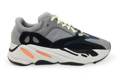 """Trainers, £590 at [link url=""""https://www.royalculture.co.uk/products/adidas-yeezy-wave-runner-700?utm_medium=cpc&utm_source=googlepla&variant=54111289931""""]Royalculture.co.uk[/link]."""