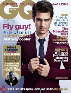 Andrew Garfield is Spider-Man & on the cover of British GQ