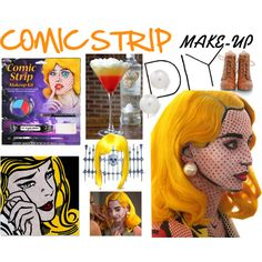 """CREATE COMIC STRIP MAKE-UP ON YOUR OWN @ HOME"" by diaparsons on Polyvore"