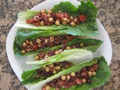 Chickpea and Red Quinoa Lettuce Wraps from pg 134 in S.A.S.S! Yourself Slim