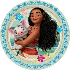"""9"""" Disney Moana Party Plates, 8ct"""