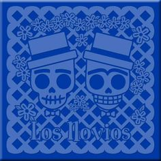 Day of the Dead Gay Wedding Etched Tile