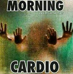 morning cardio (The link takes you to some exercises for a couple... not the kind pictured, though :-D)