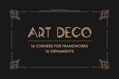 Art Deco Vector Elements by Olga Ryzychenko on @creativemarket