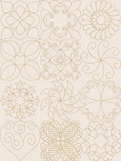 Continuous line quilting motifs machine embroidery designs this site has lots of motifs Quilting Stencils, Quilting Templates, Longarm Quilting, Quilting Tutorials, Quilt Patterns, Quilting Ideas, Hand Quilting, Sewing Patterns, Machine Embroidery Quilts