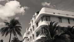Miami Beach Art Deco Buildings, South Beach Miami, Black and White Photography, Black & White Florid Photography Guide, Beach Photography, Fine Art Photography, Miami Art Deco, Black And White Beach, South Beach Miami, Miami Florida, Thing 1, Art Deco Buildings