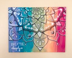 Breathe Deeply // Mandala // Acrylic Painting // by AbraKayDabra, $40.00