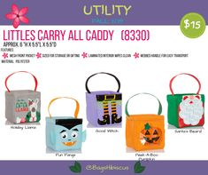 Littles Carry-All Caddy Thirty One Halloween, Thirty One Fall, Thirty One Party, Thirty One Gifts, Santa Beard, Thirty One Business, Thirty One Consultant, 31 Bags, Peek A Boos