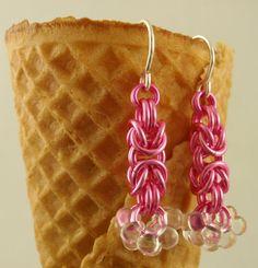SALE 2 Shaggy Byzantine Earring Kits in PINK by UnkamenSupplies, $25.00