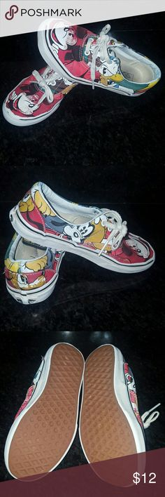 Kids Disney Van's 2.5 These still have life in them... paid $48. Limited Edition Youth Vans.  Please ask any and all questions before purchasing this item Vans Shoes Sneakers