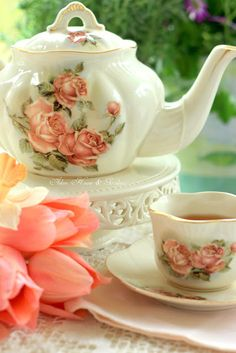 Hello everyone,     Spring is a perfect time to have   afternoon tea in our little sunroom.      When the temperature is a littl...