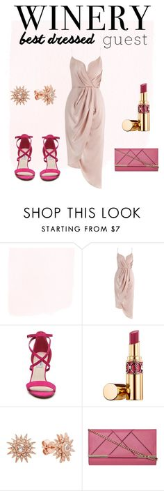 """best dressed guest. wine pop of color"" by mylilacwine ❤ liked on Polyvore featuring Zimmermann, Chelsea & Zoe, Yves Saint Laurent, Kenza Lee, Dorothy Perkins, napa, winerywedding, bestdressedguest and vineyardwedding"
