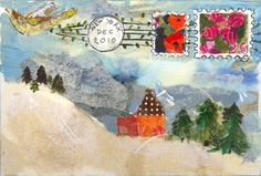 August Wren - If Mail - mail art Envelope Art, Envelope Design, Diy Postcard, Mail Art Envelopes, Art Carte, Fun Mail, Decorated Envelopes, House Quilts, Lost Art