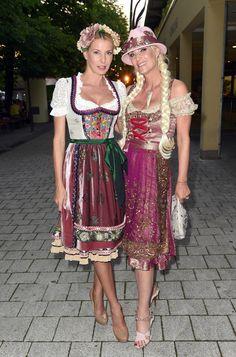 Sixt Ladies Dirndl Dinner in Munich 2014. Giulia Siegel, Sarah Kern #Designerdirndl
