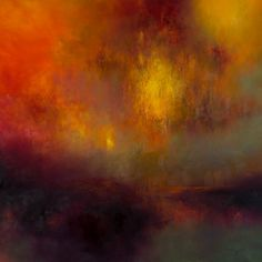 Kirstie Cohen - Orange Evening Light, 2018 Abstract Landscape, Landscape Paintings, Abstract Art, Landscapes, Painting Patterns, Oil On Canvas, Orange, Drawings, Artist